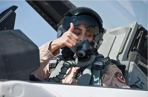 เรืออากาศเอกหญิงมาเรียม อัล มานซูรี (Mariam Al Mansouri)นักบินรบหญิงคนแรกของกองทัพสหรัฐอาหรับเอมิเรตส์